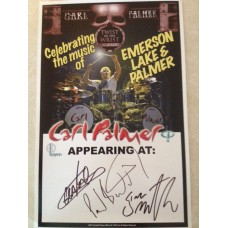 CARL PALMER BAND AUTOGRAPHED 2013 TOUR POSTER!!