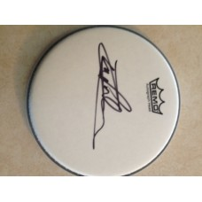 "CARL PALMER SIGNED 12 "" REMO DRUM HEAD- VERY RARE!"