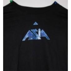 Womans Glitter T-Shirt Short Sleeve (Black)